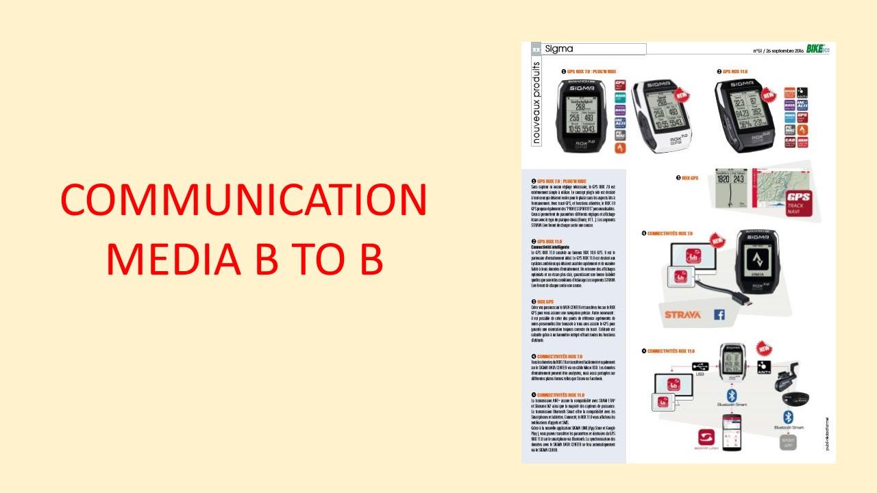 Communication vélo presse btob