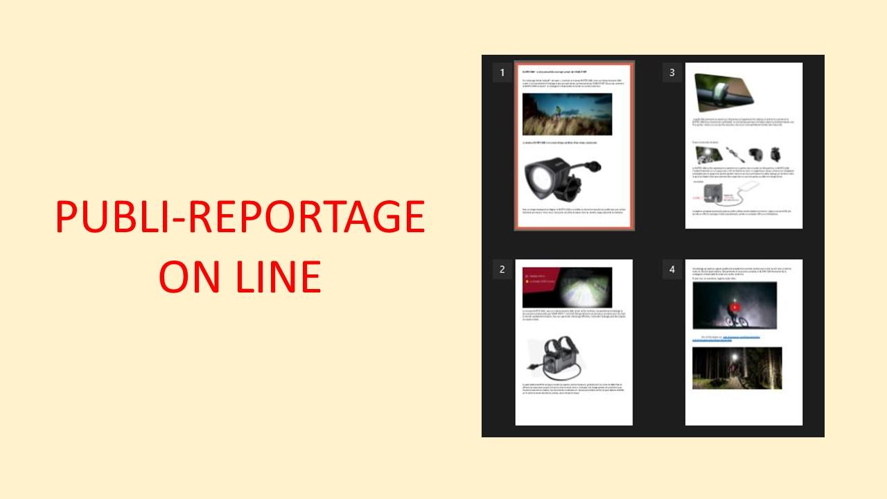 Communication vélo Publi reportage